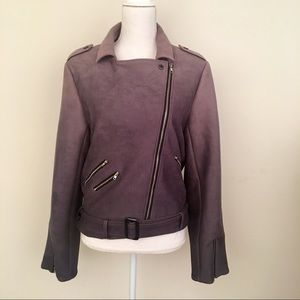 Women's  gray suede jacket size large